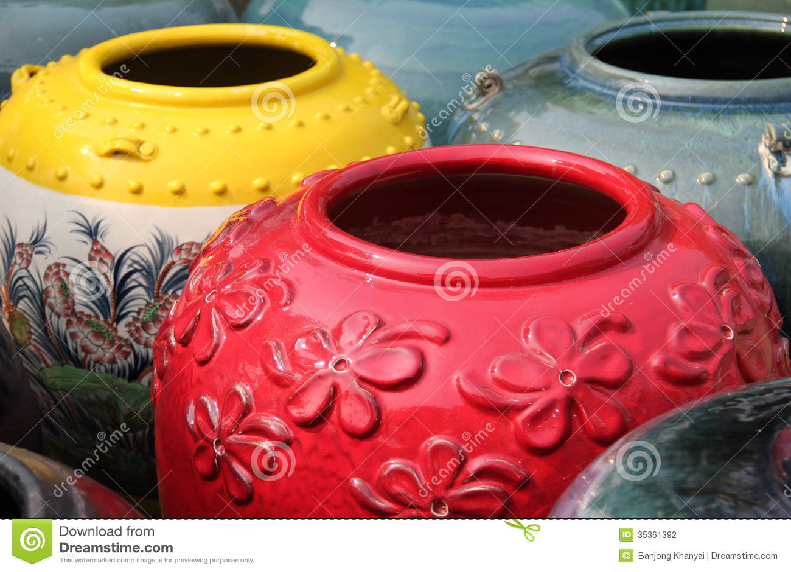 Gekleurde kruiken