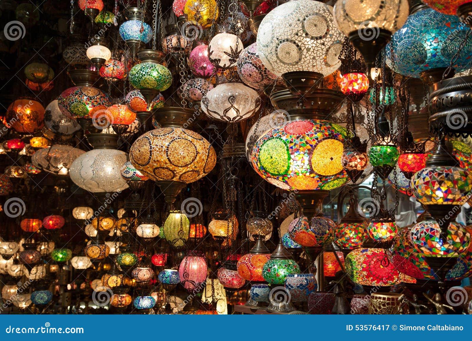 Gekleurde lampen stock foto afbeelding 53576417 - Oostelijk licht ...