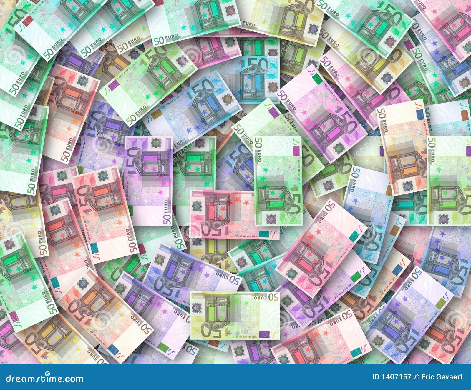 Gekleurde nota s van 50 euro