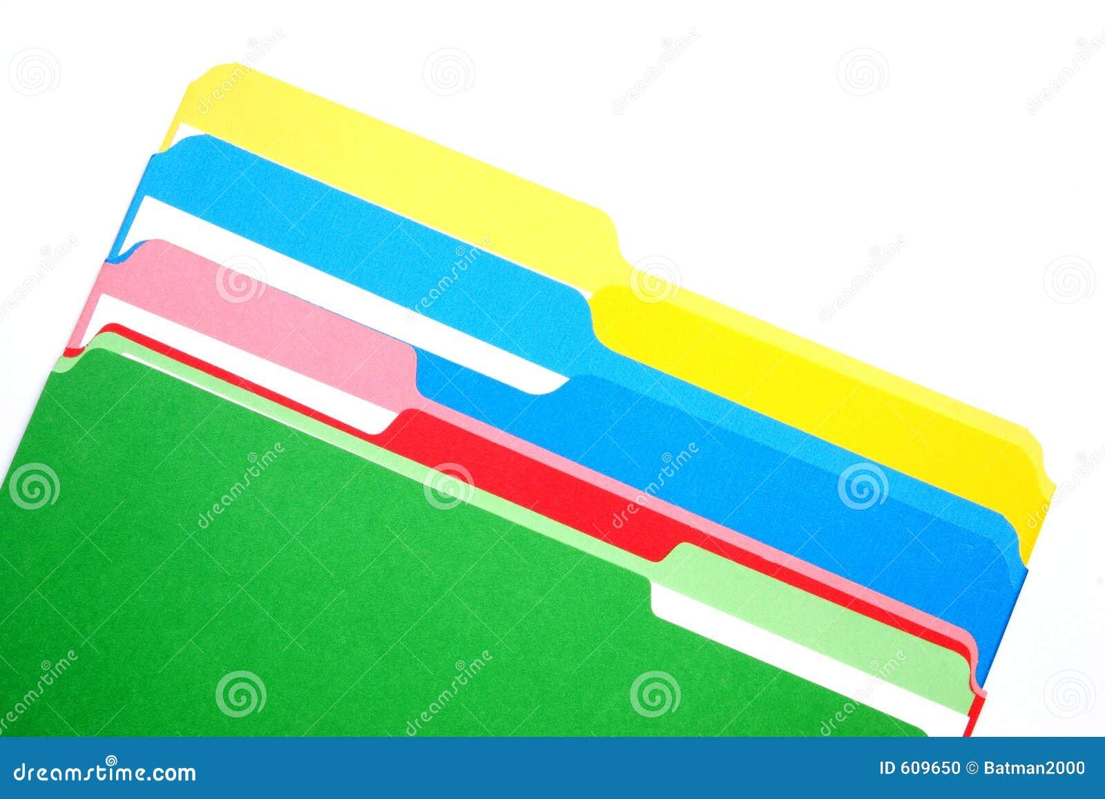Gekleurde omslagen vier kleuren