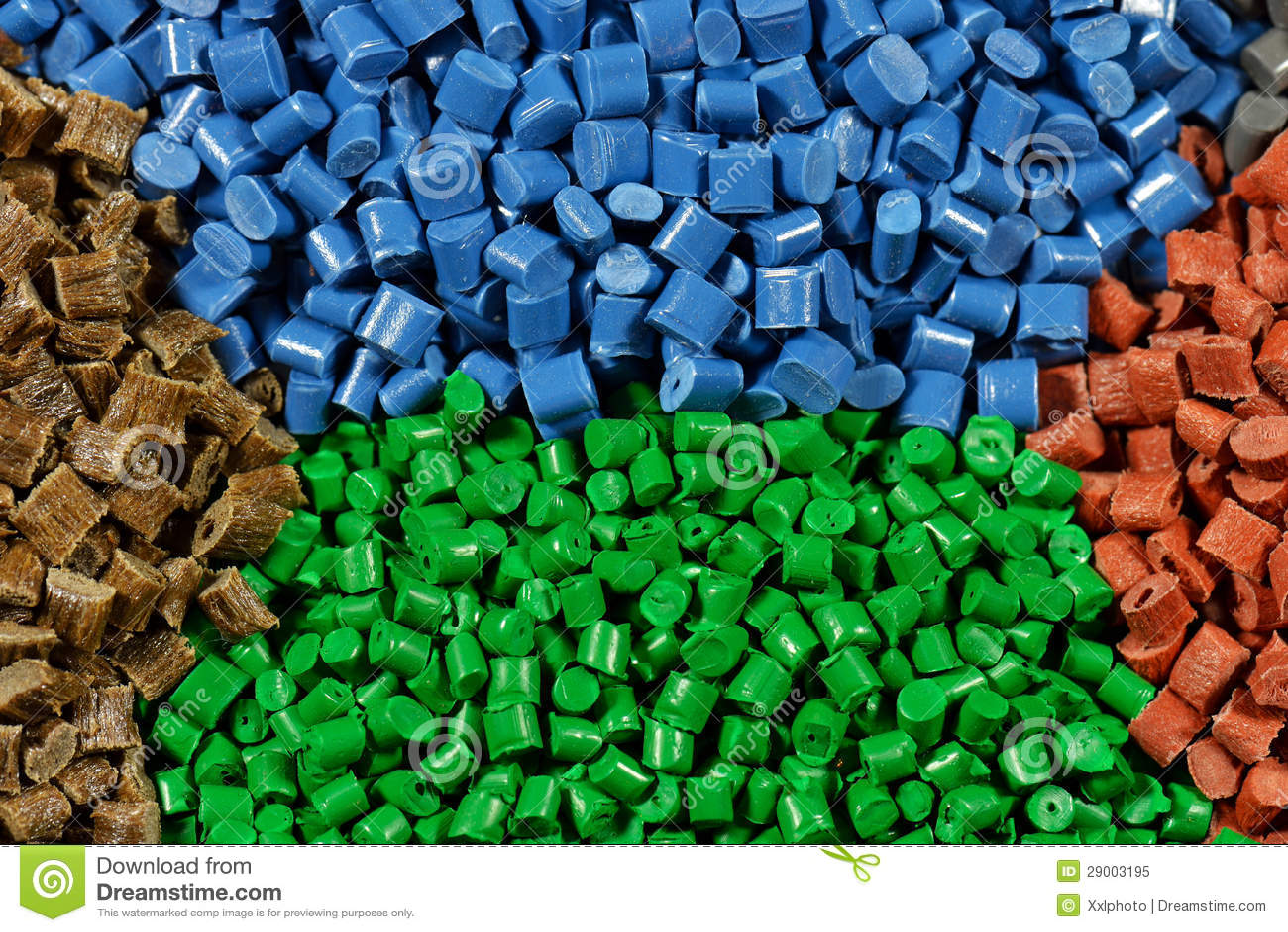 Gekleurde Plastic Korrels Royalty Vrije Stock Foto Beeld