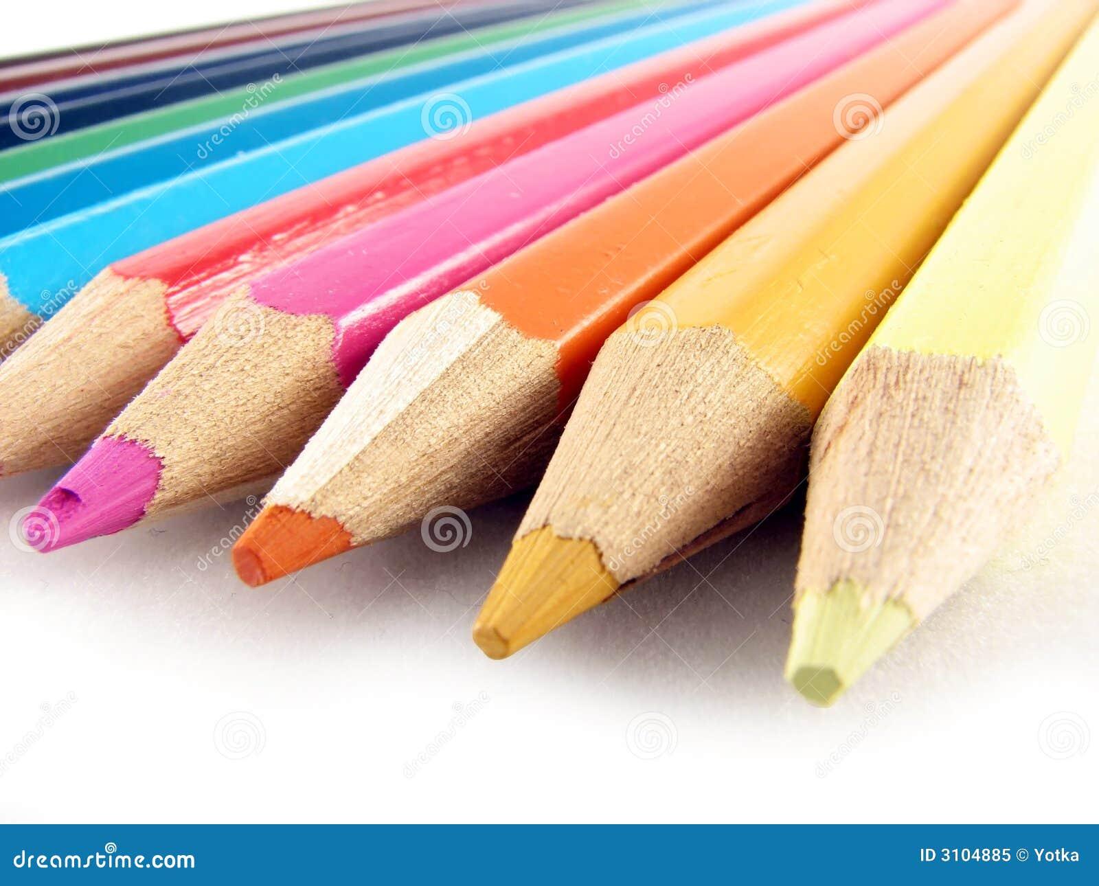 Gekleurde potloden royalty vrije stock foto afbeelding 3104885 - Grafiek blauw grijze verf ...