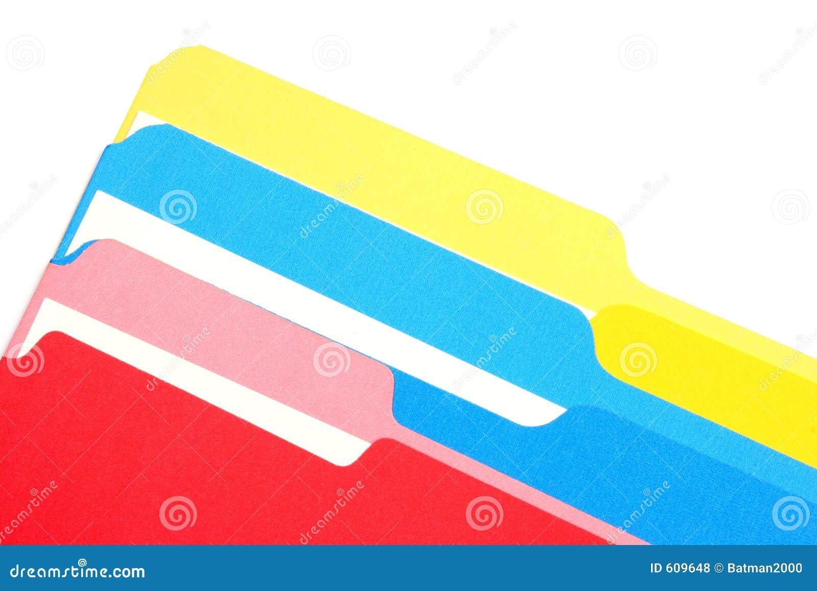 Gekleurde schuine omslagen