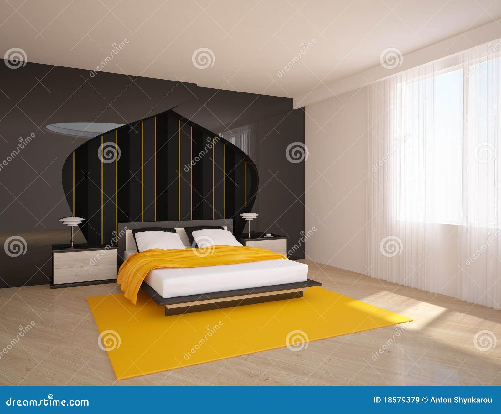Mening over de moderne slaapkamer royalty vrije stock fotografie ...
