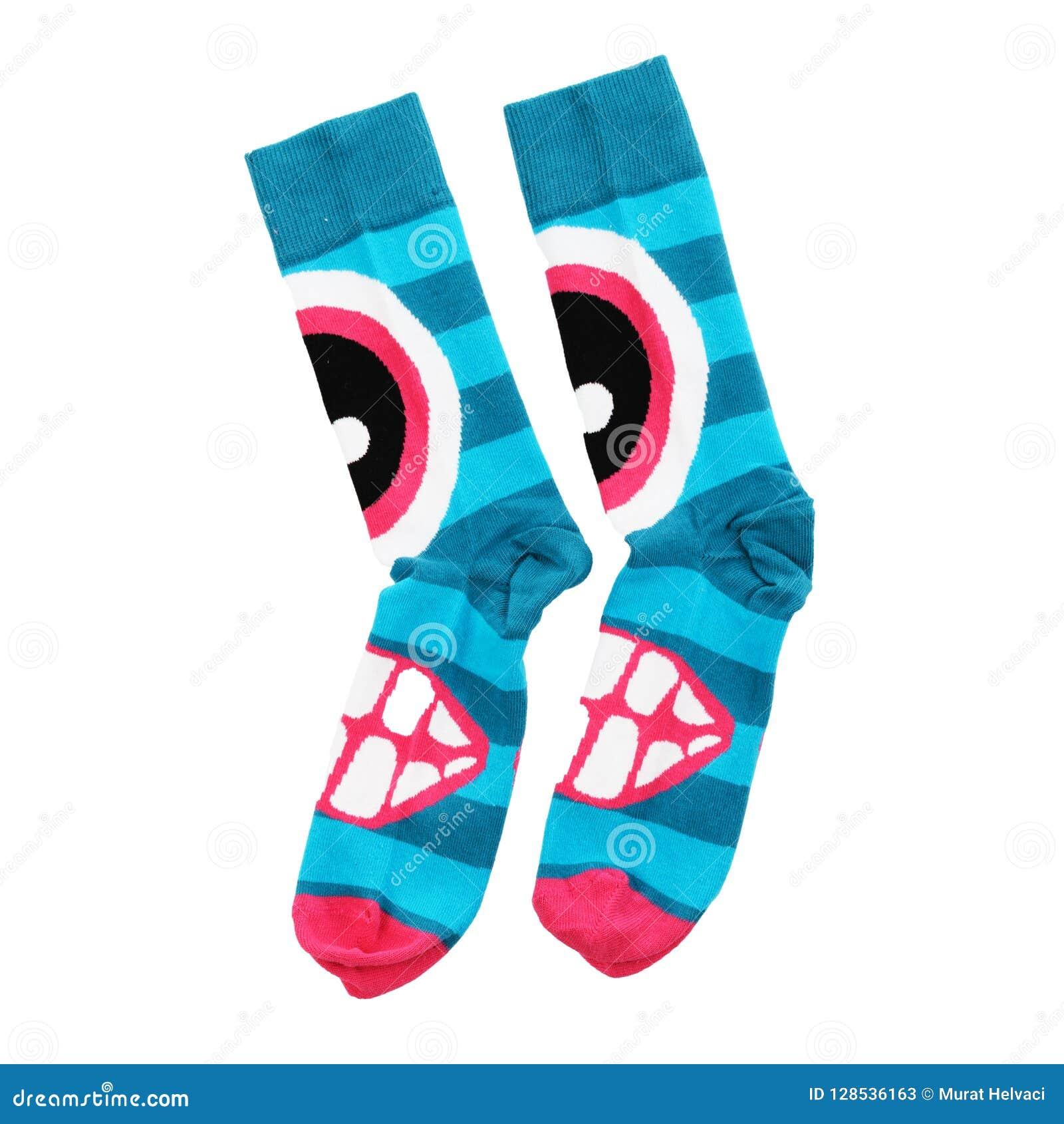 Gekleurde sokken op een witte achtergrond