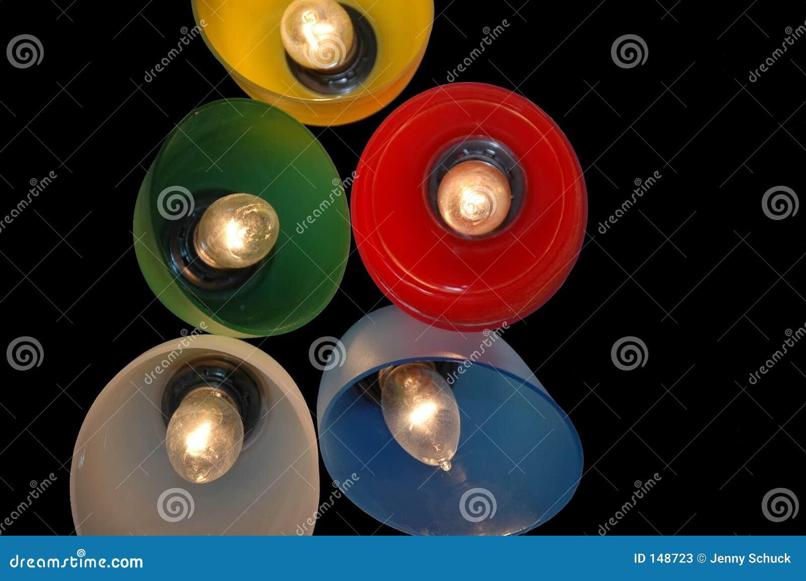 Gekleurde verlichting stock afbeelding. Afbeelding bestaande uit ...