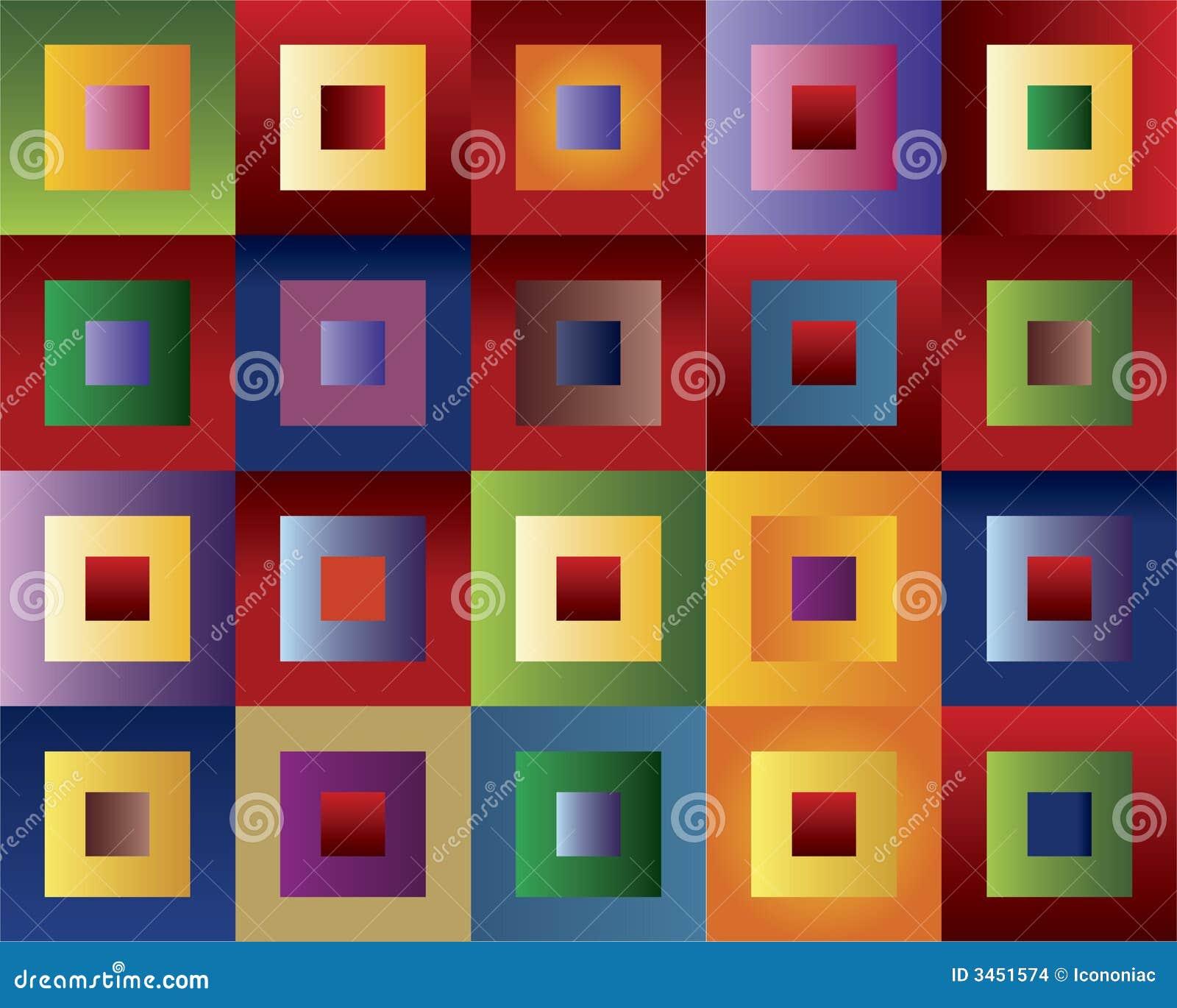 Gekleurde vierkanten