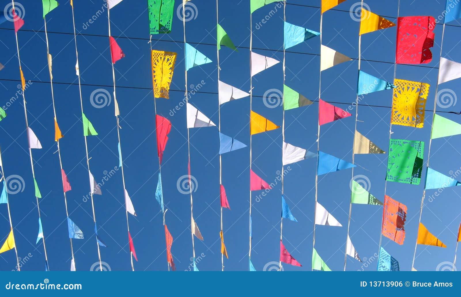 Gekleurde vlaggen