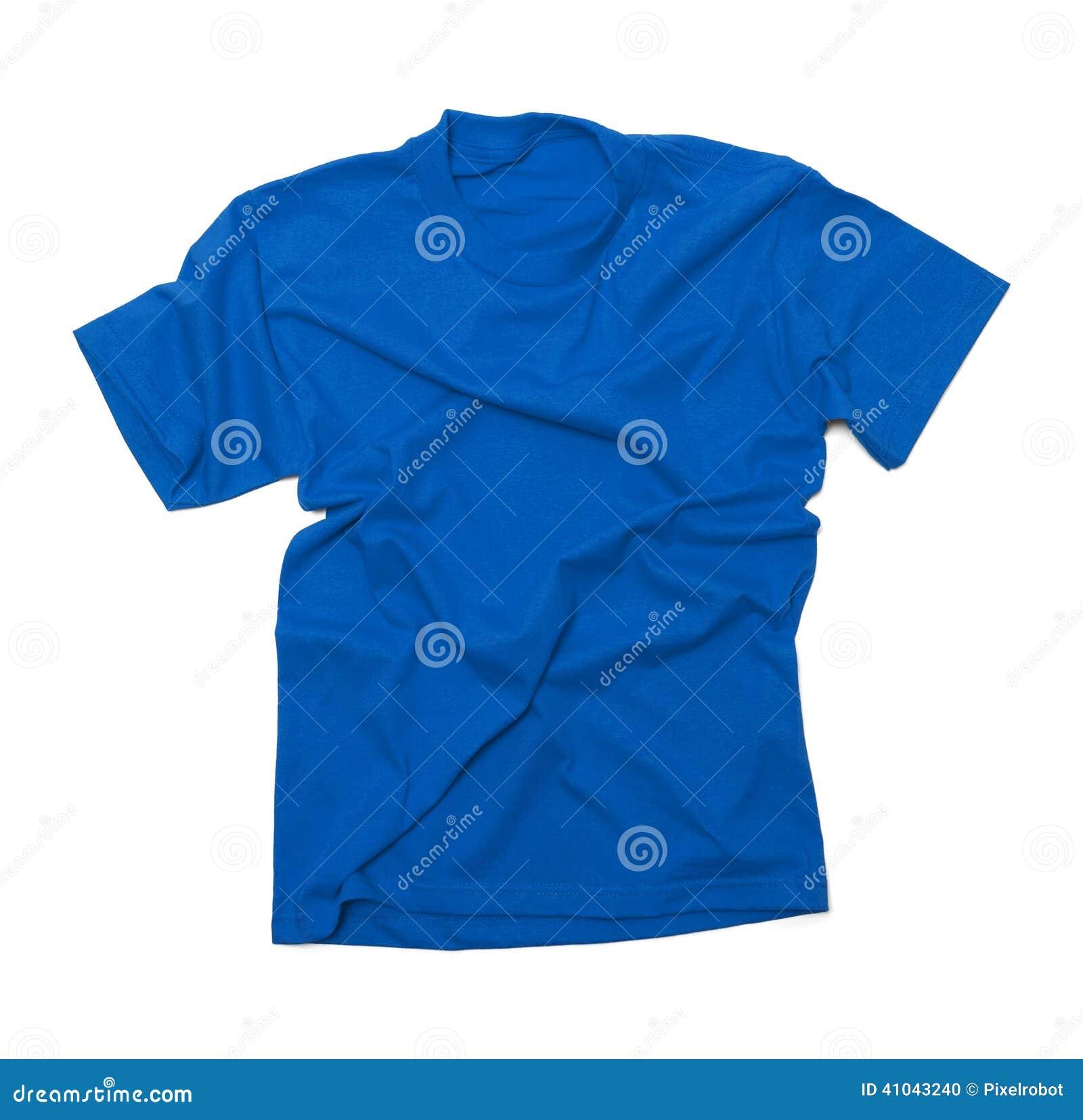 Geknittertes Blaues T-Shirt Stockfoto - Bild von kleid, baumwolle ...