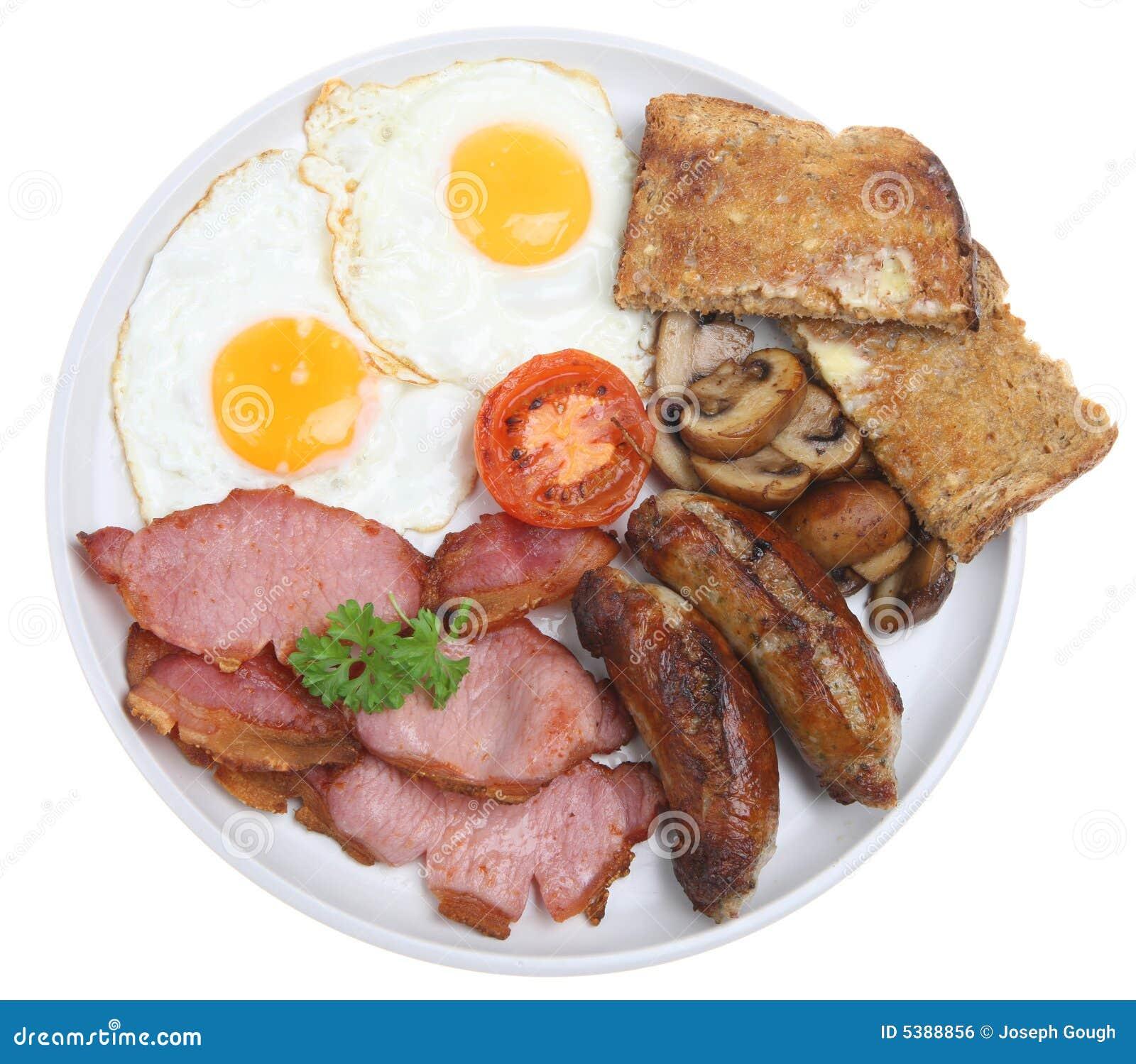Gekochtes englisches Frühstück