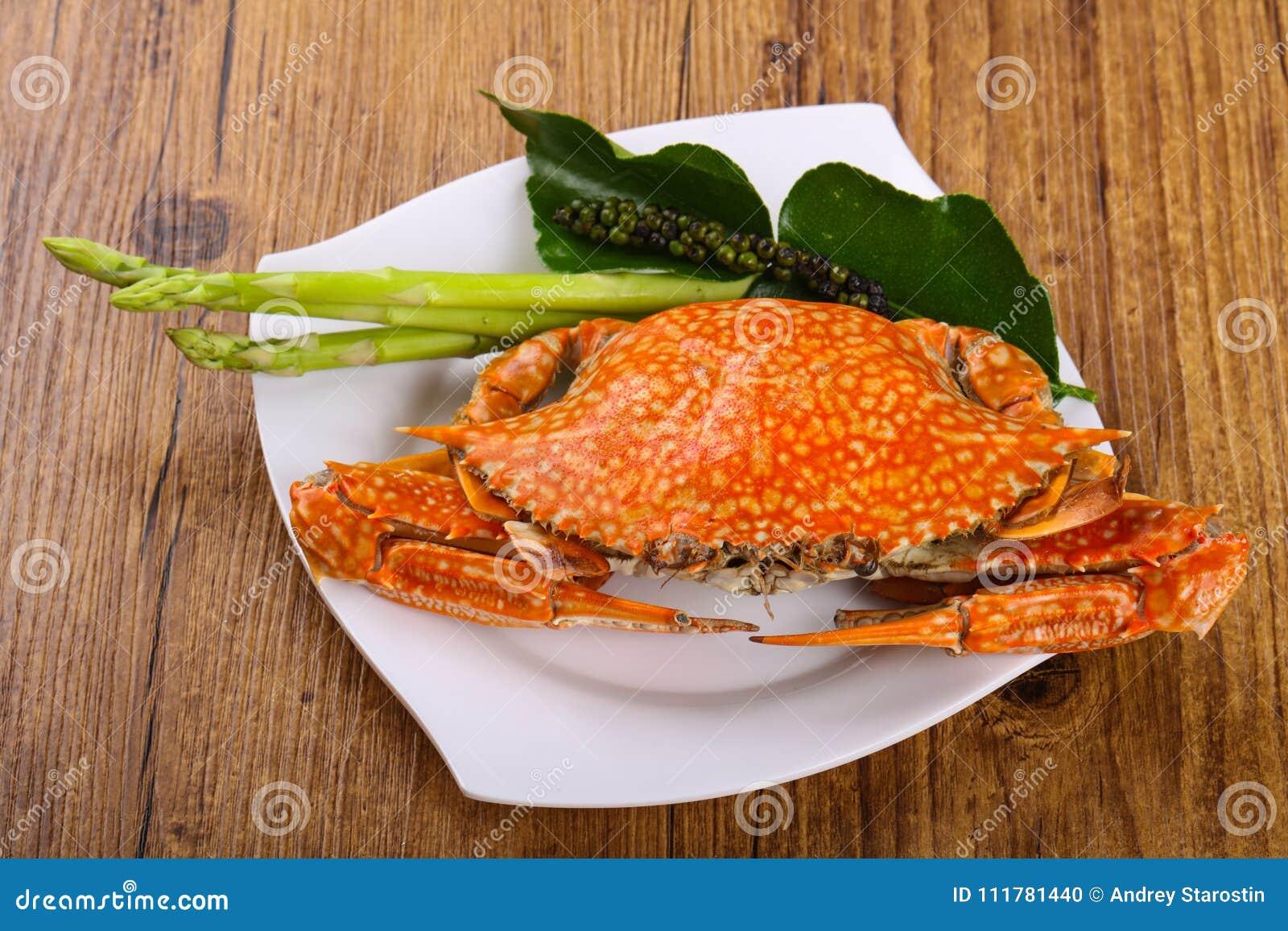 Gekookte krab