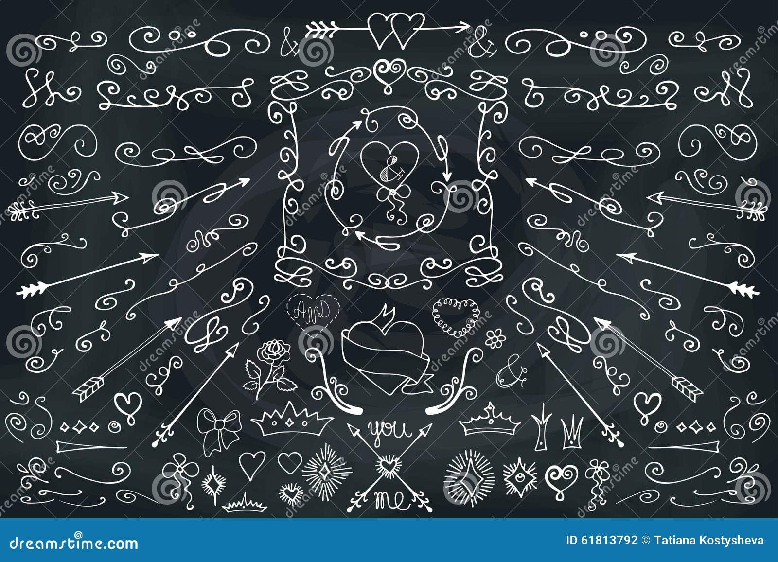 Tafel Tapete gekritzel pfeile dekorelement karikaturmuster für nette tapeten