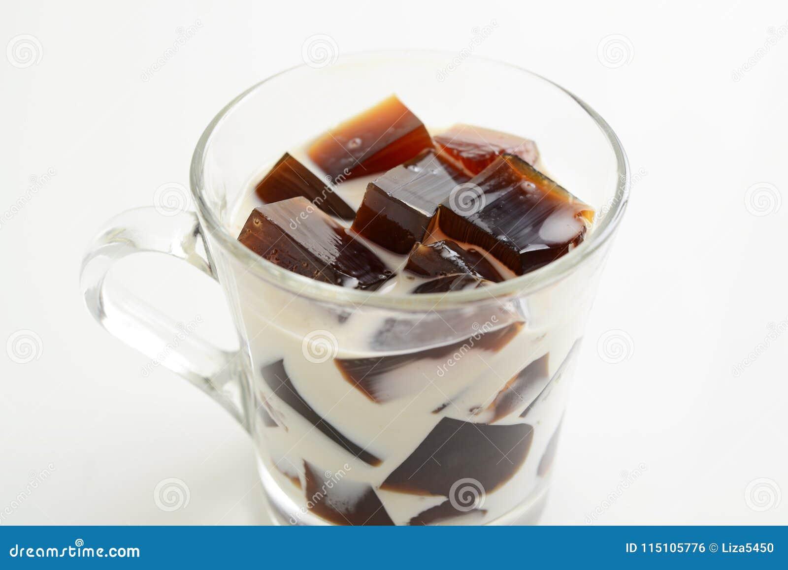 Gelée de café avec du lait
