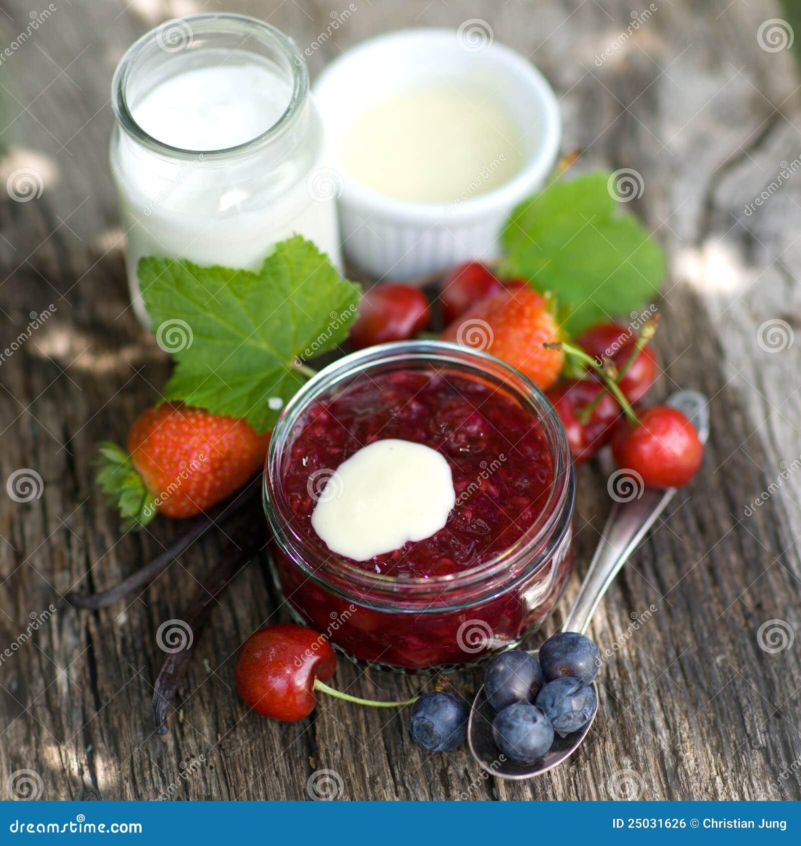 Gelée de fruit rouge