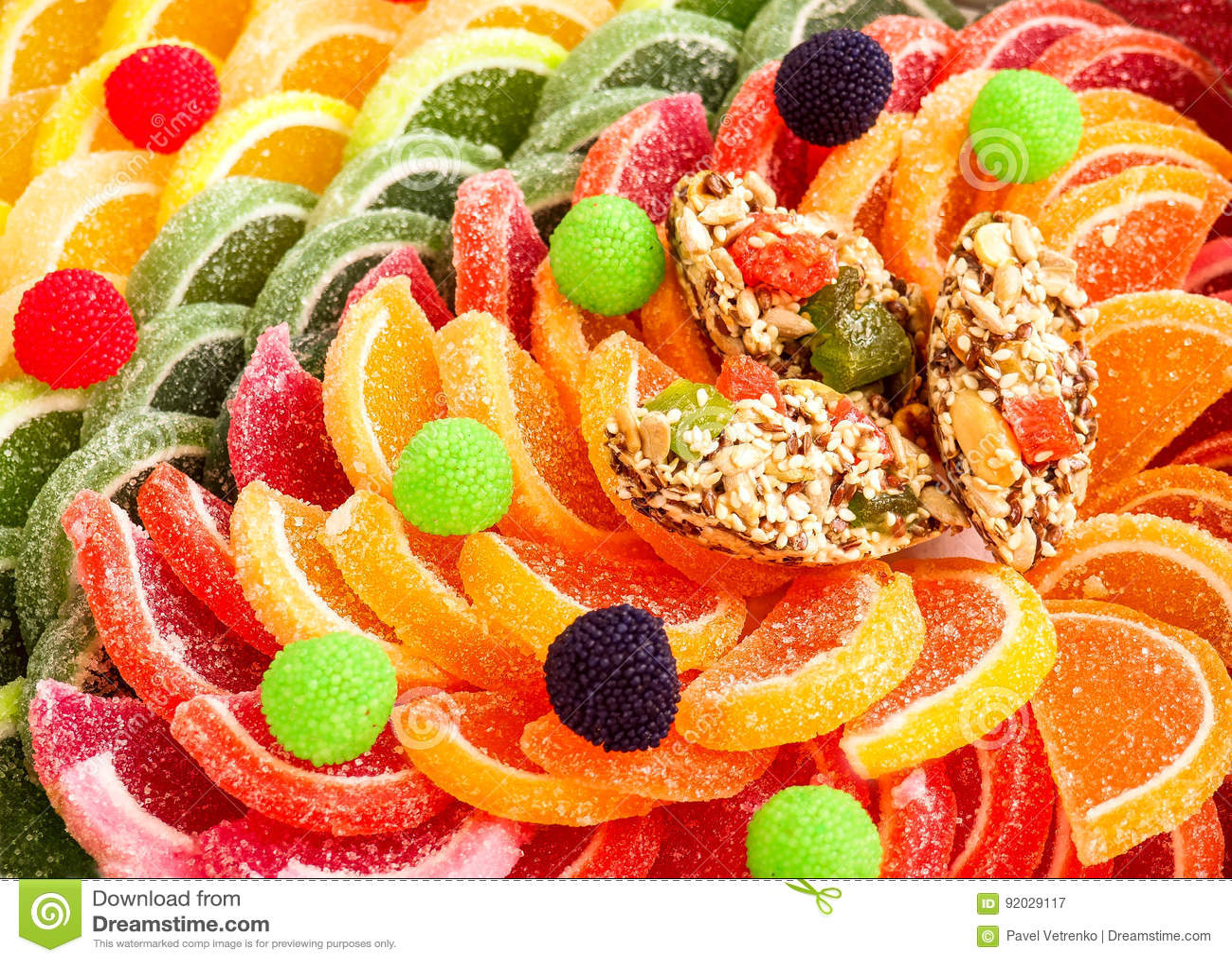Gelée de gélatine de sucrerie de confiture d oranges de bonbons