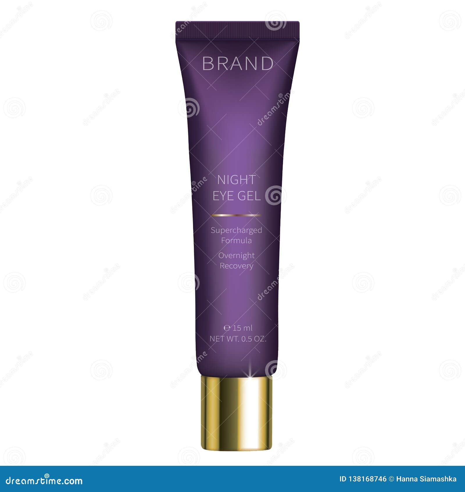Gel cosmético de la noche para el cuidado de piel de los ojos
