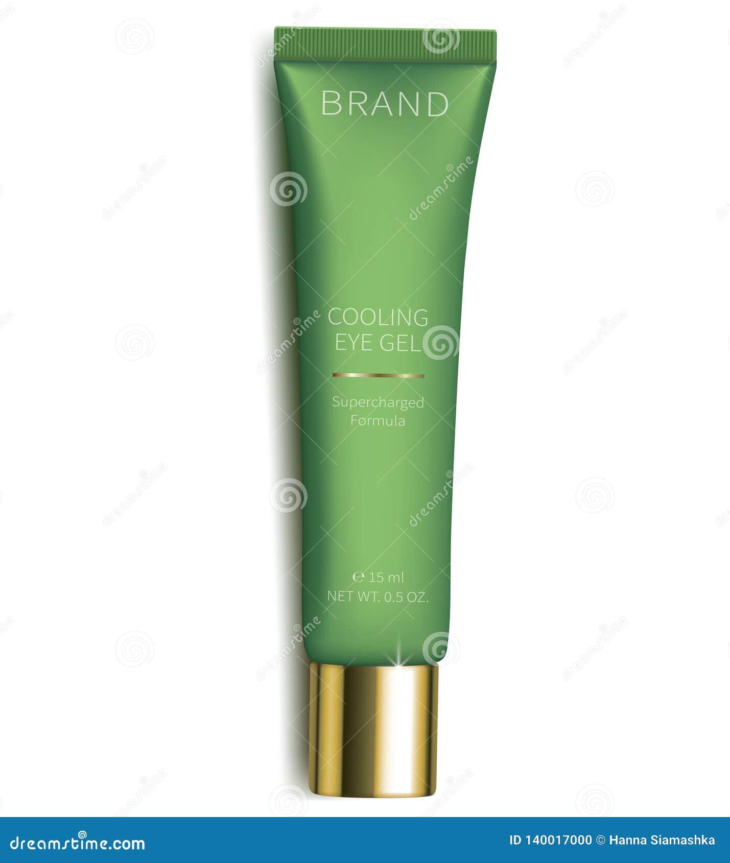 Gel cosmético para el cuidado de piel de los ojos