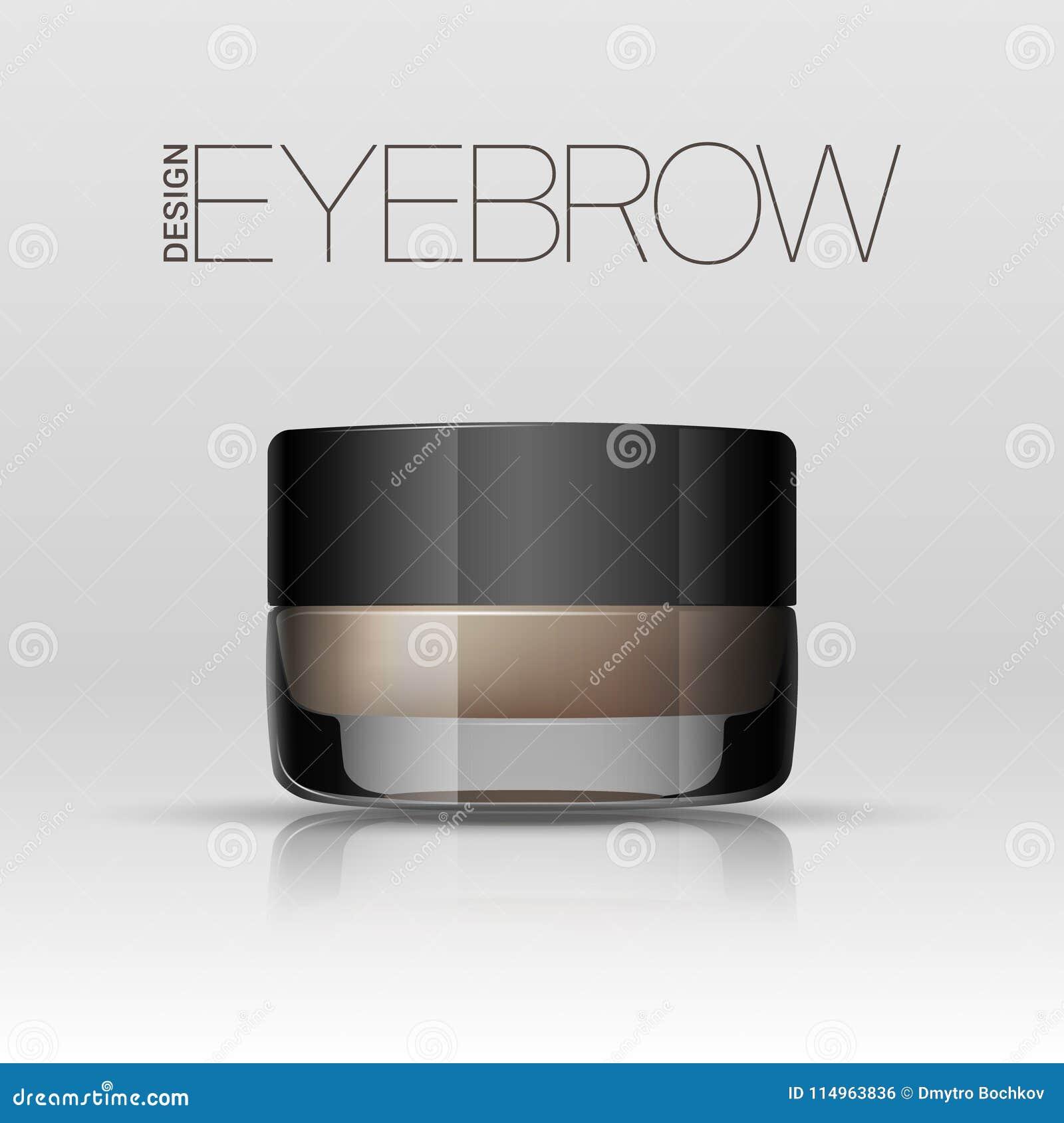 Gel de coloration pour des sourcils Produit de maquillage de sourcils Vecteur