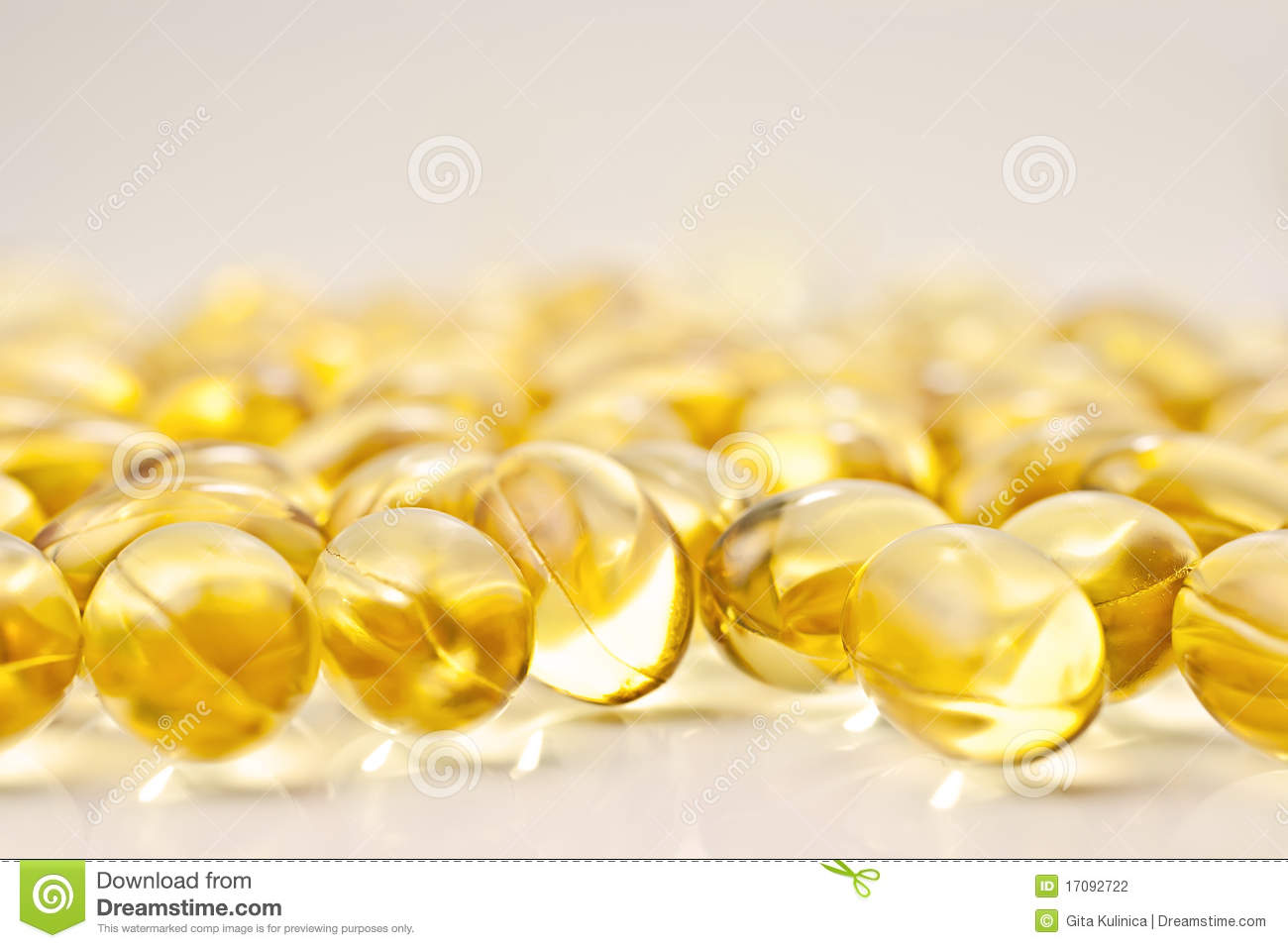 Gel vitamin supplement capsules.