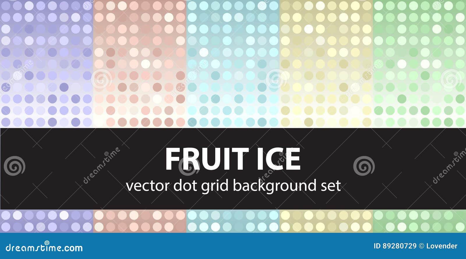 Gelato alla frutta stabilito del modello di pois
