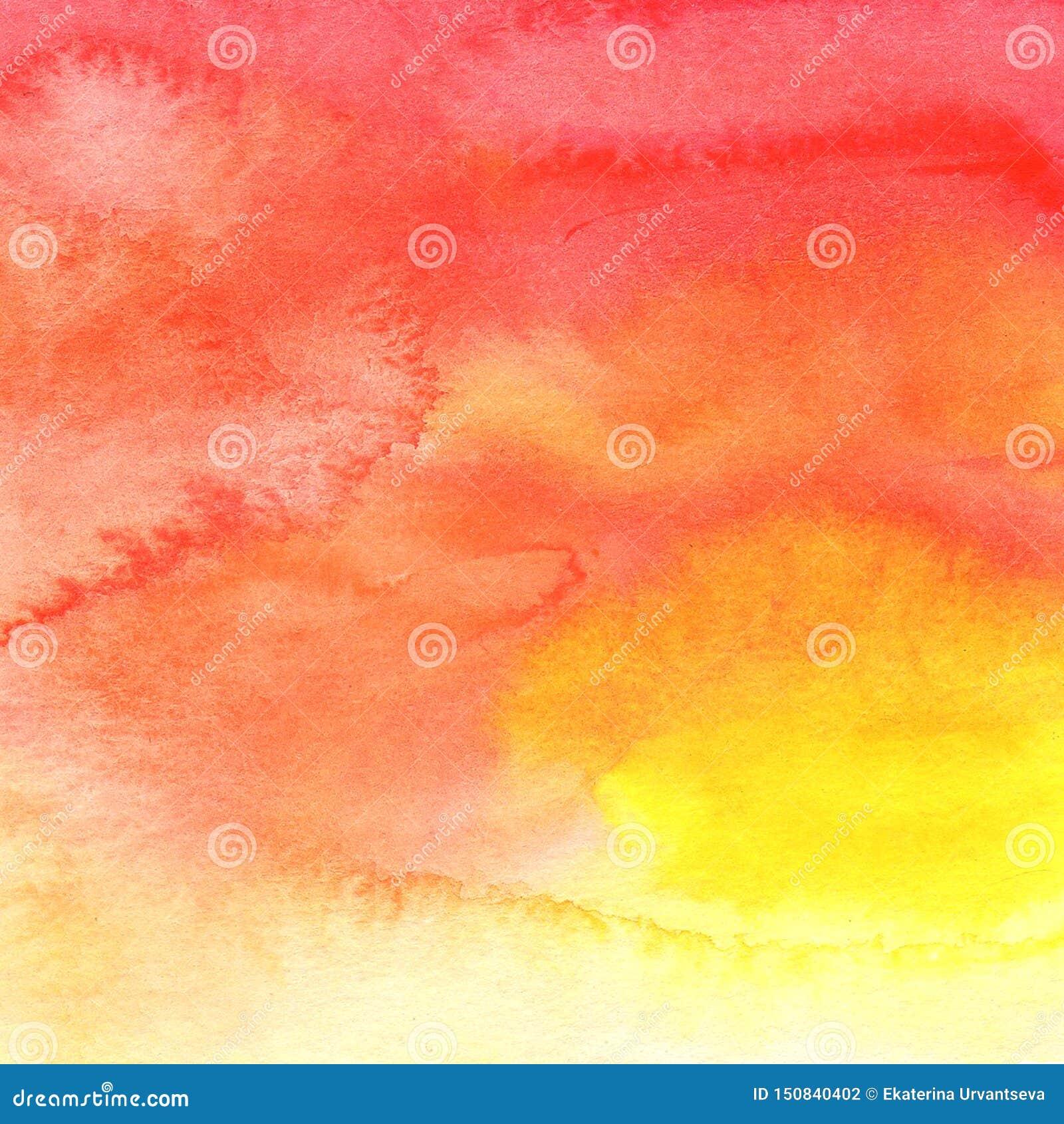 Gelb-orangee rote korallenrote Farbe des Zusammenfassungshintergrundes