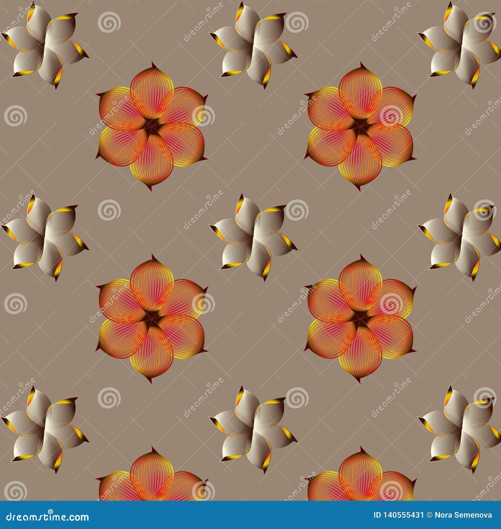 Gelbe Blumen, Basisrecheneinheit, Inneres mit Tropfen