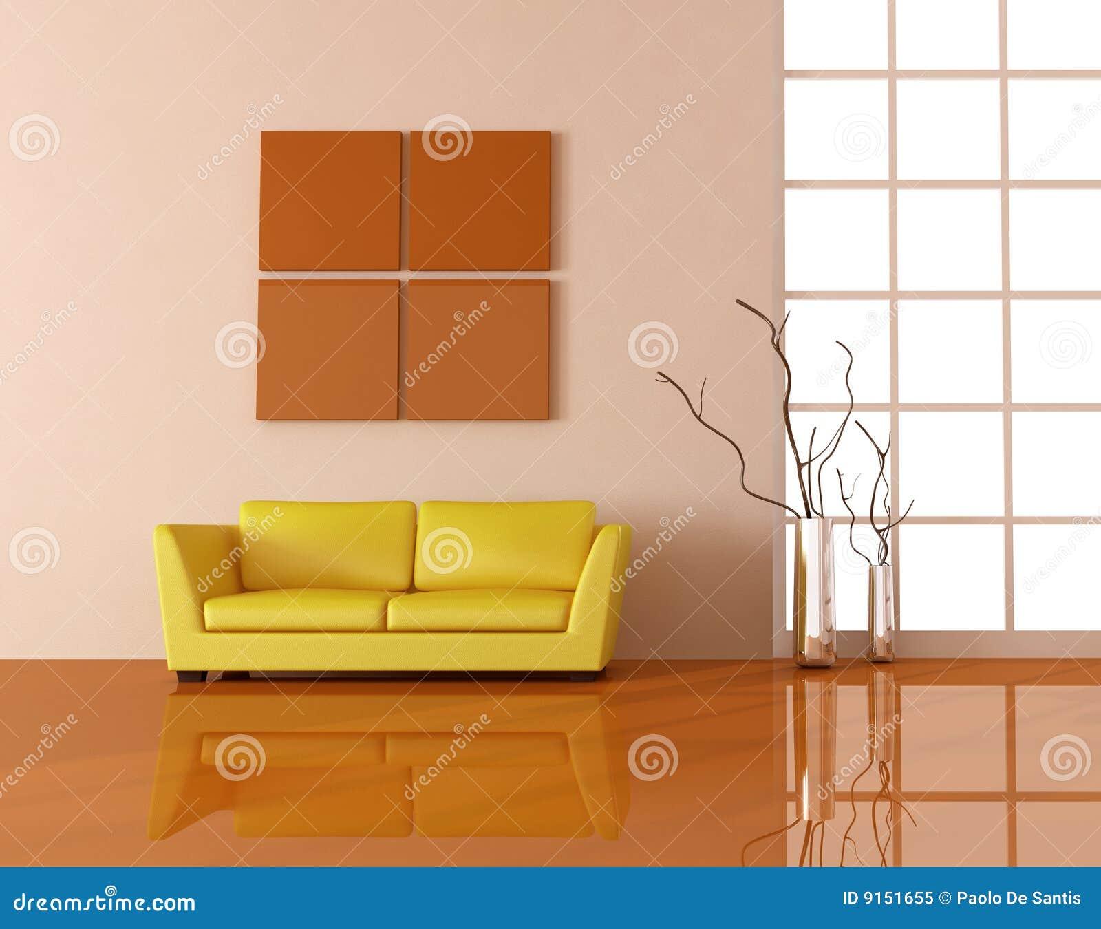 Gelbe couch lizenzfreies stockfoto bild 9151655 - Gelbe couch ...