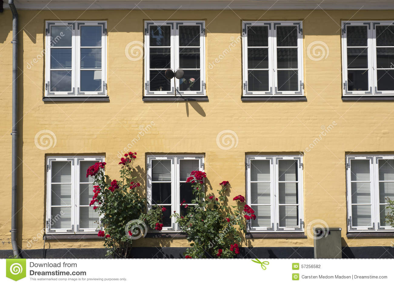 Turbo Gelbe Fassade stockfoto. Bild von dänemark, häuschen - 57256582 ZY35