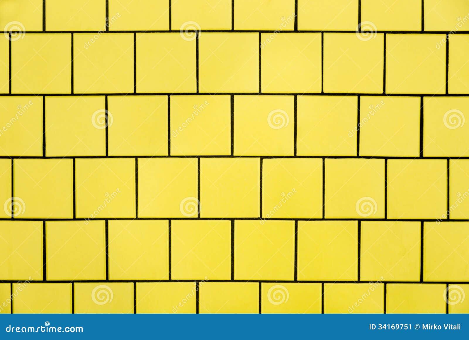 gelbe fliesen stockbild bild 34169751. Black Bedroom Furniture Sets. Home Design Ideas