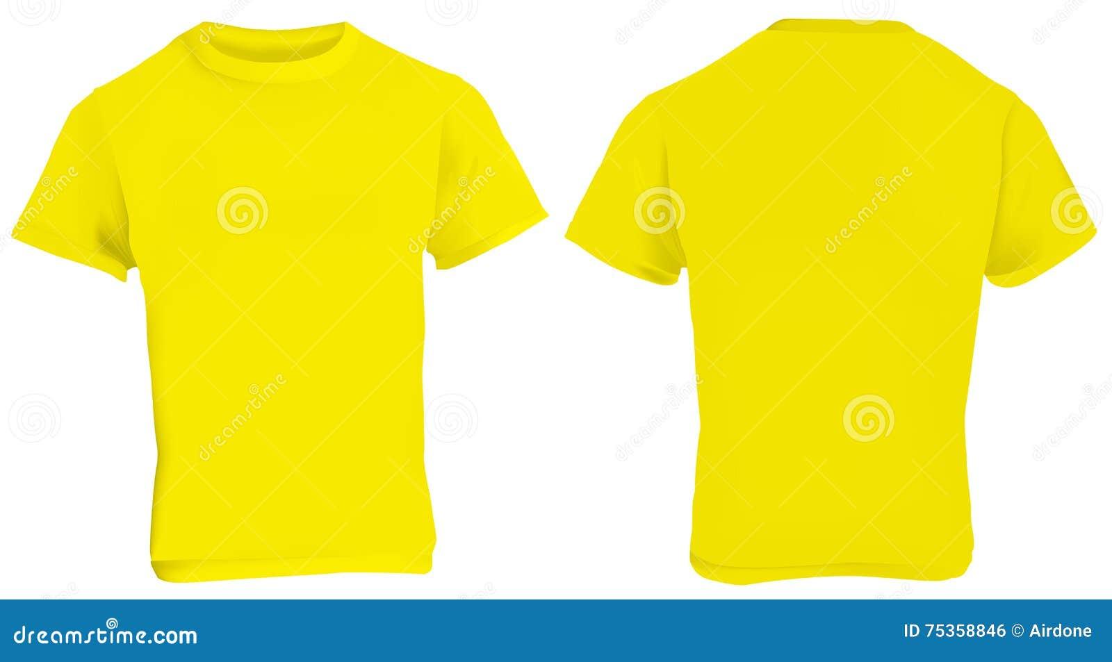 Gelbe Hemd-Schablone vektor abbildung. Illustration von steigung ...