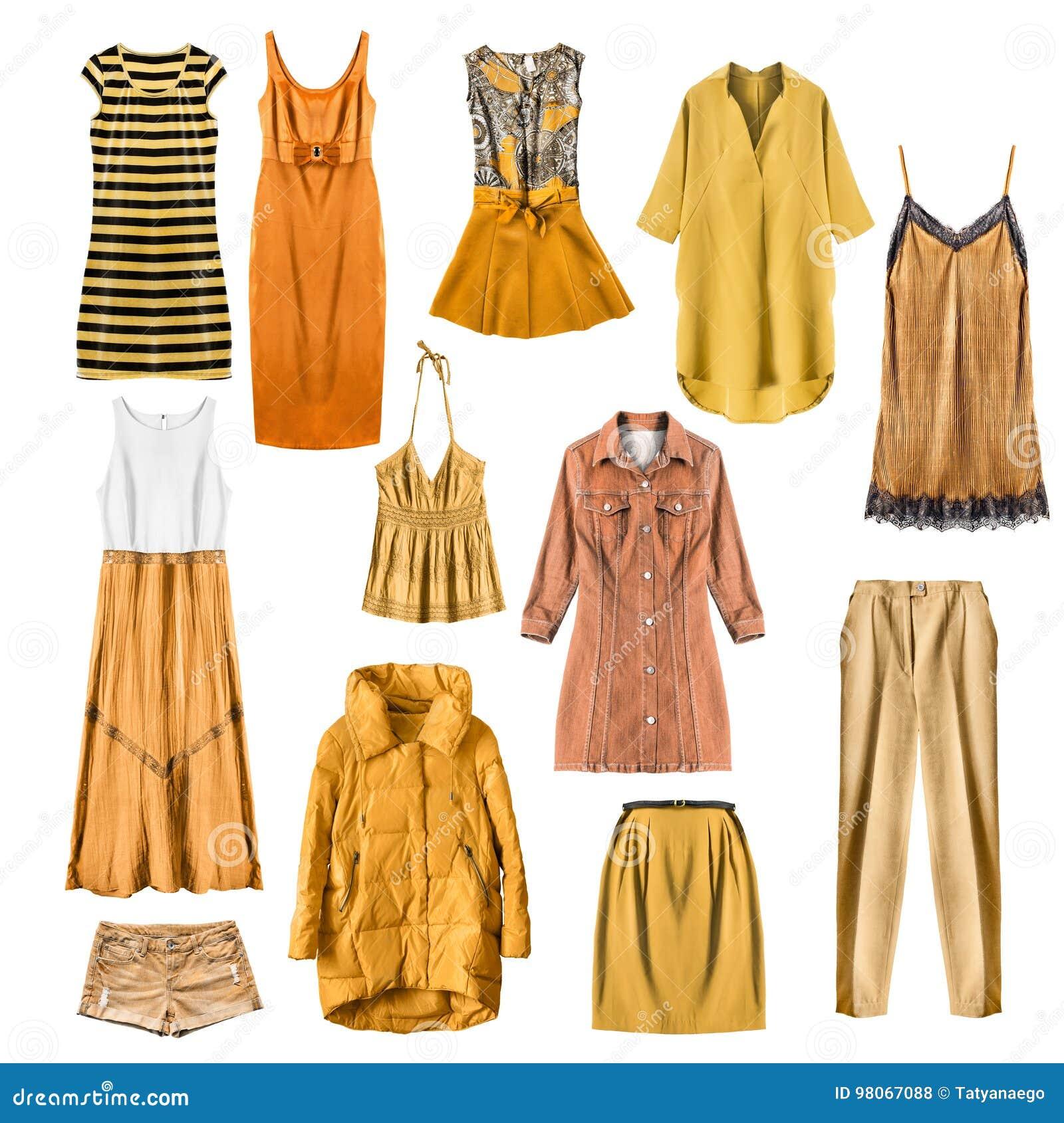 Gelbe Kleidung Lokalisiert Stockfoto Bild Von Farbe 98067088