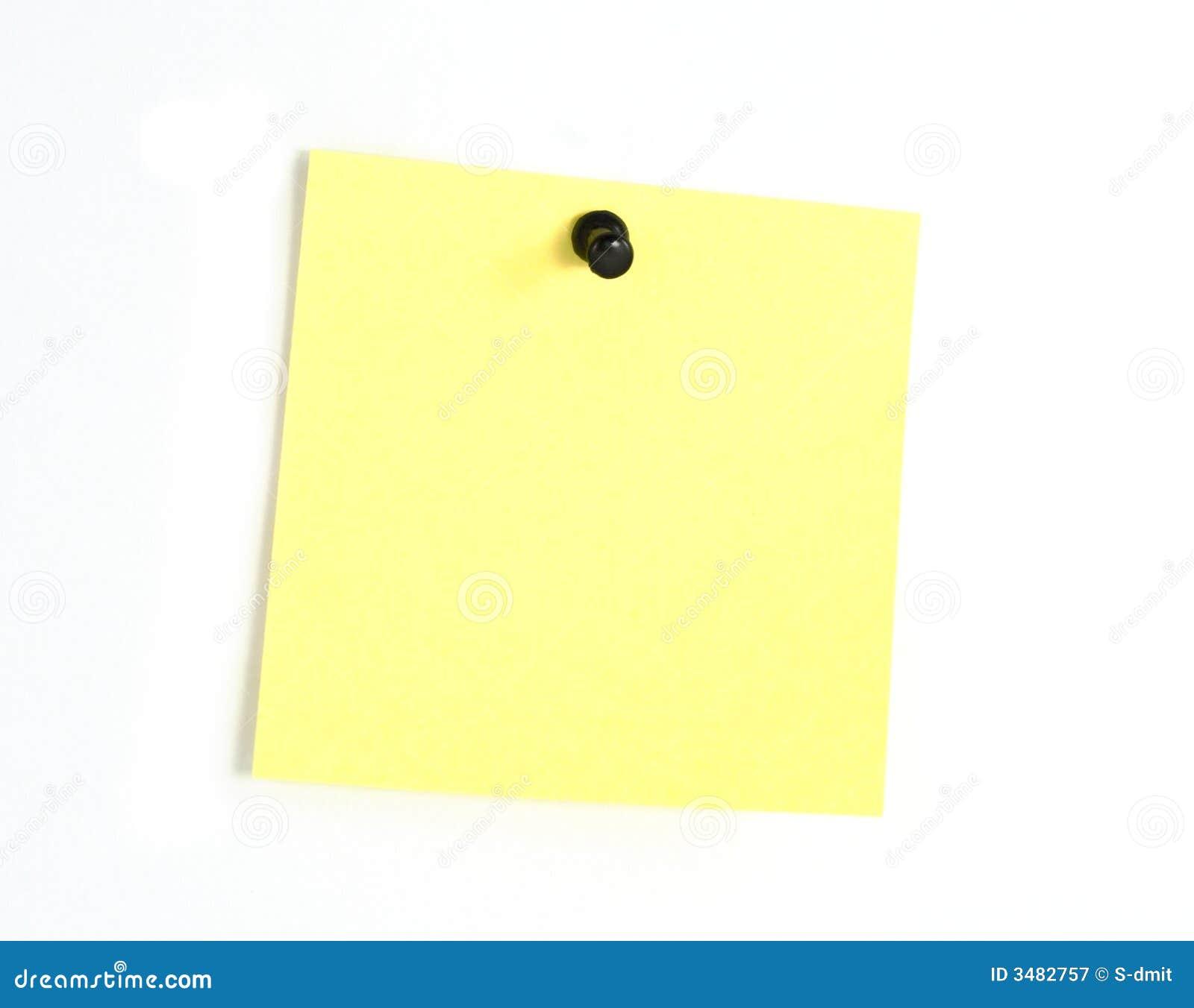 Gelbe Post-Itanmerkung