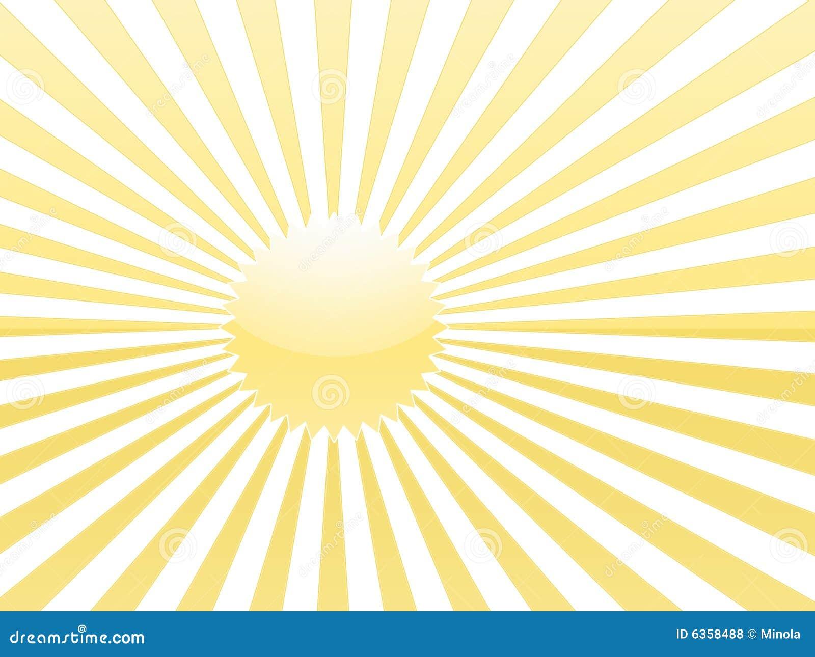 Gelbe Sonnestrahlen