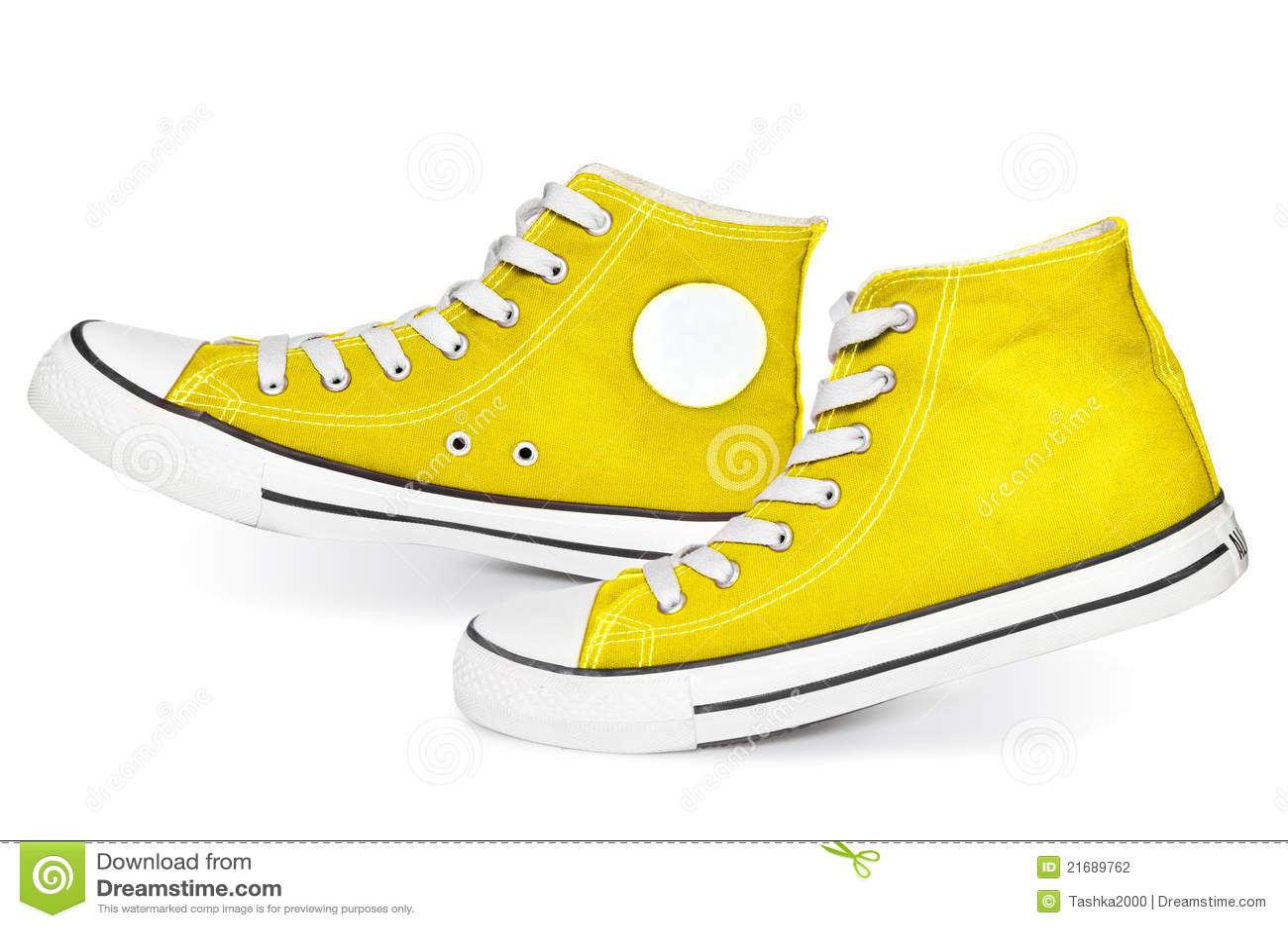 Gelbe Turnschuhe Stockfotografie