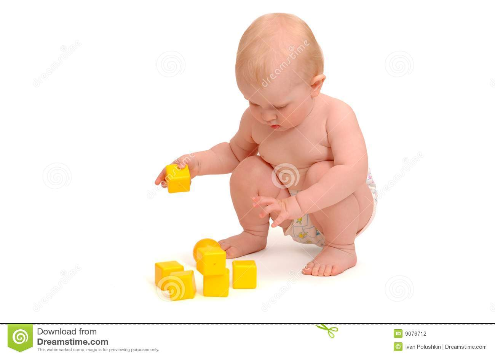 Gelbe Würfel der Kinderspiele