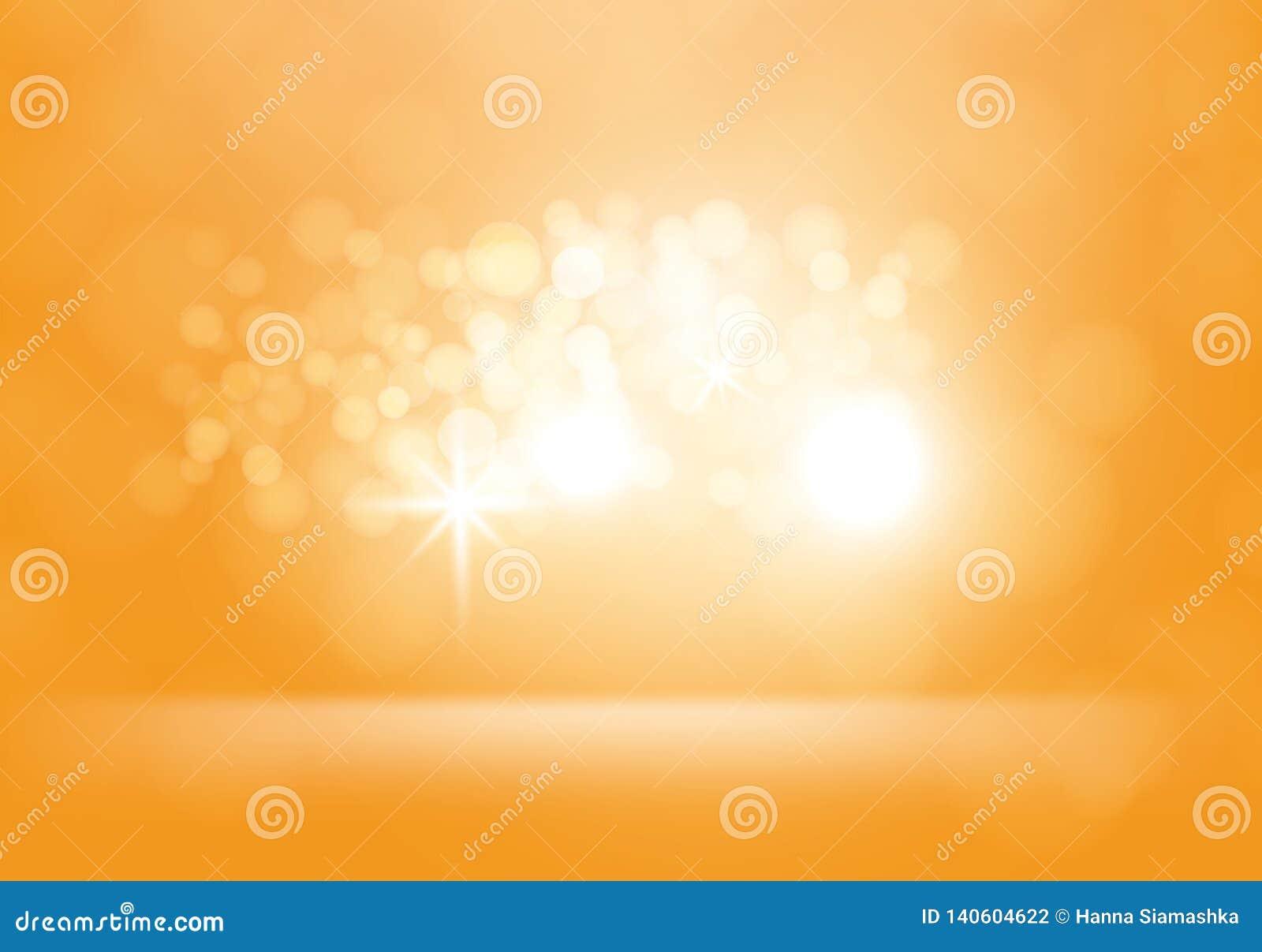 Gelber abstrakter Hintergrund des Vektors mit Blitzen