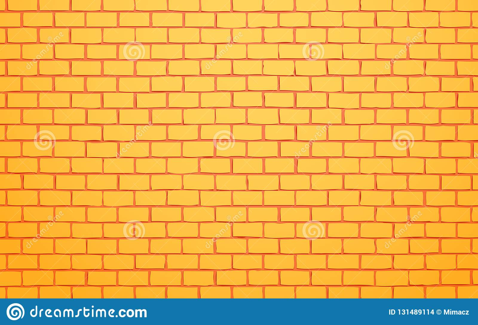 Gelber Backsteinmauervektor-Illustrationshintergrund