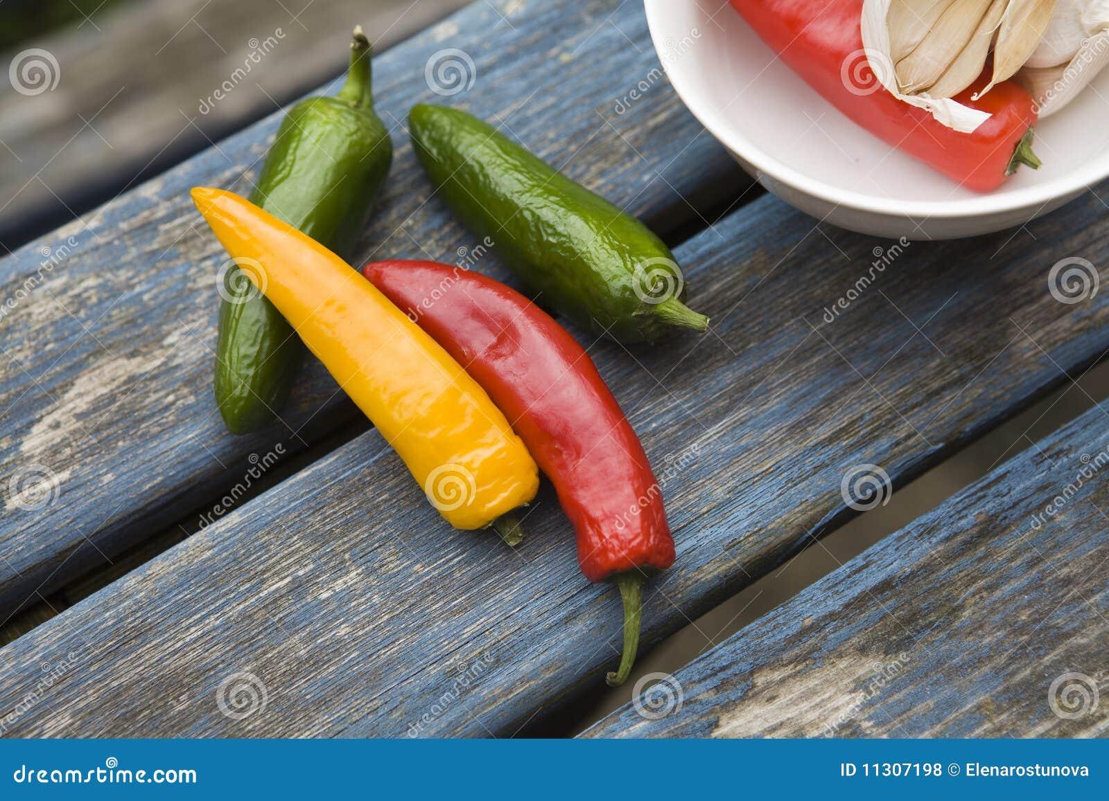 Gelber, grüner, roter Ampel-Paprikapfeffer