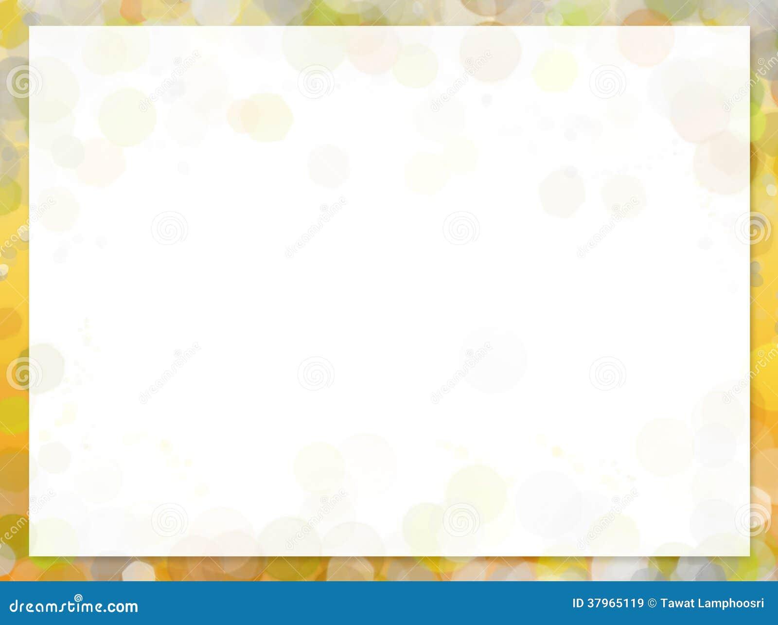 Gelber Rahmen Mit Unschärfe Bokeh Stock Abbildung - Illustration von ...