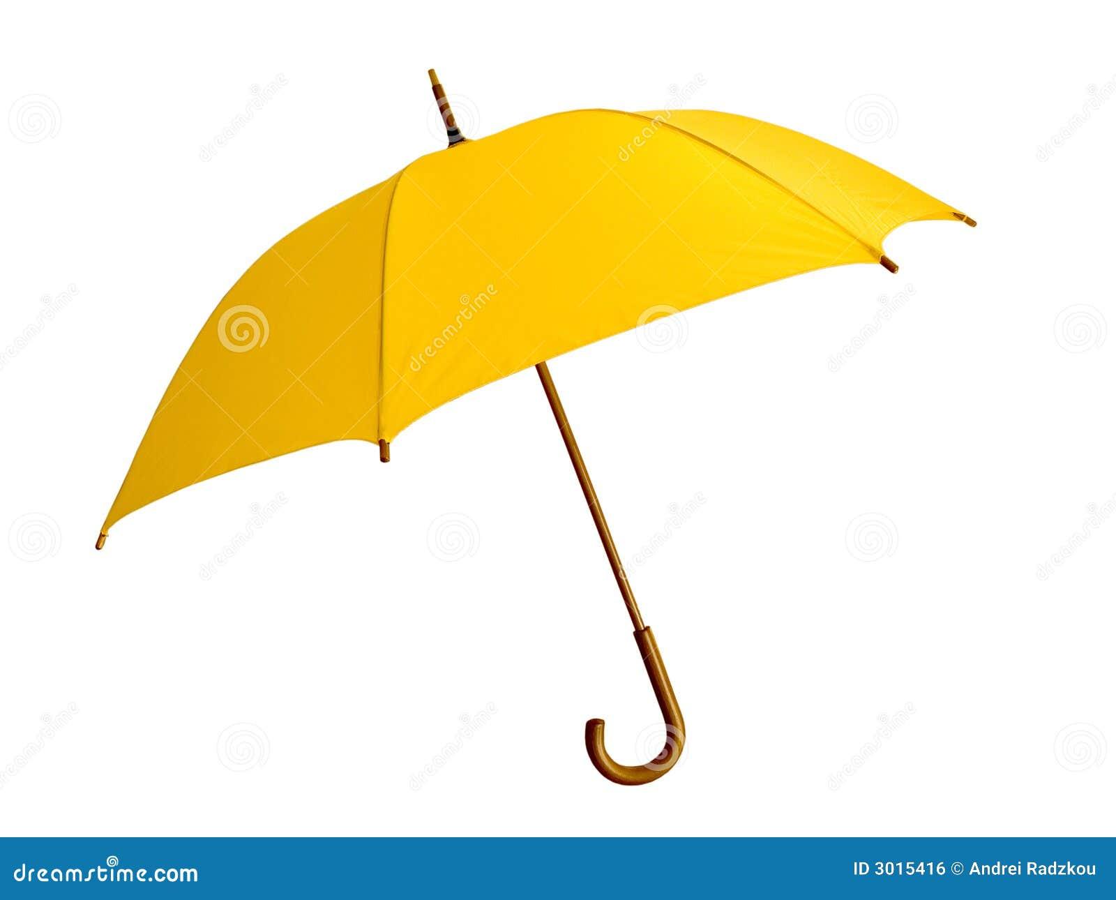 gelber regenschirm lizenzfreies stockbild bild 3015416
