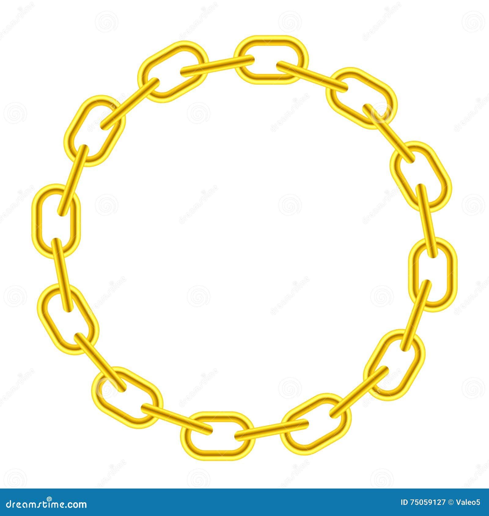 Gelber runder Kettenrahmen vektor abbildung. Illustration von ...