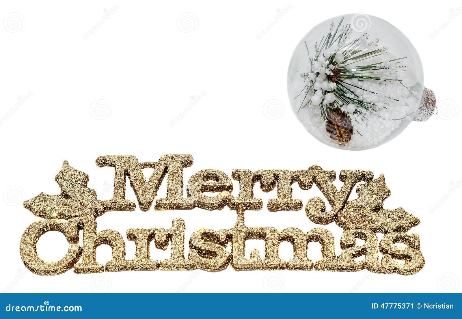 Gelber Schein Frohe Weihnachten Schreiben, Buchstaben Mit Der ...