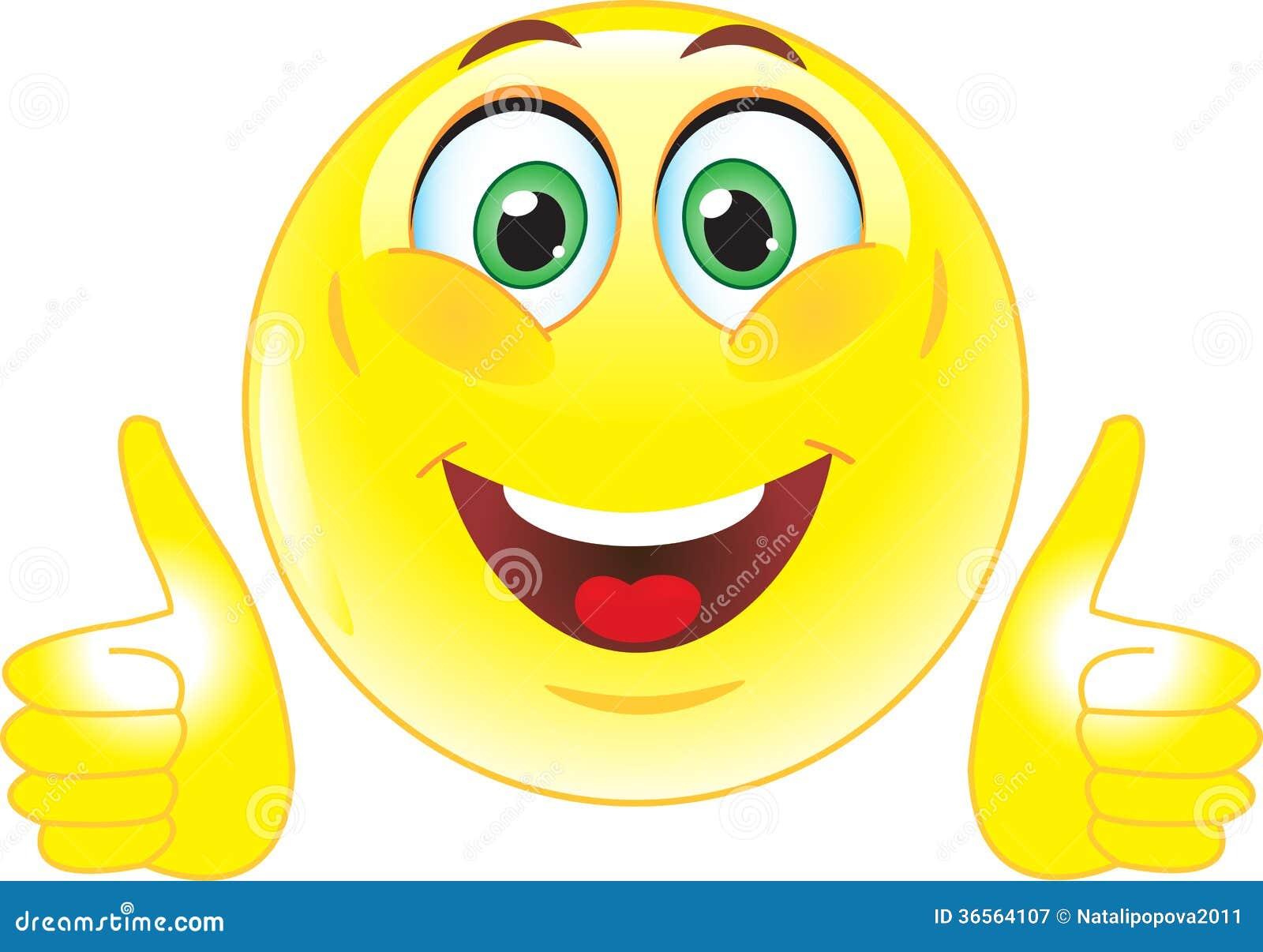 Gelber Smiley Zeigt Dass Aller Gut Ist Lizenzfreie