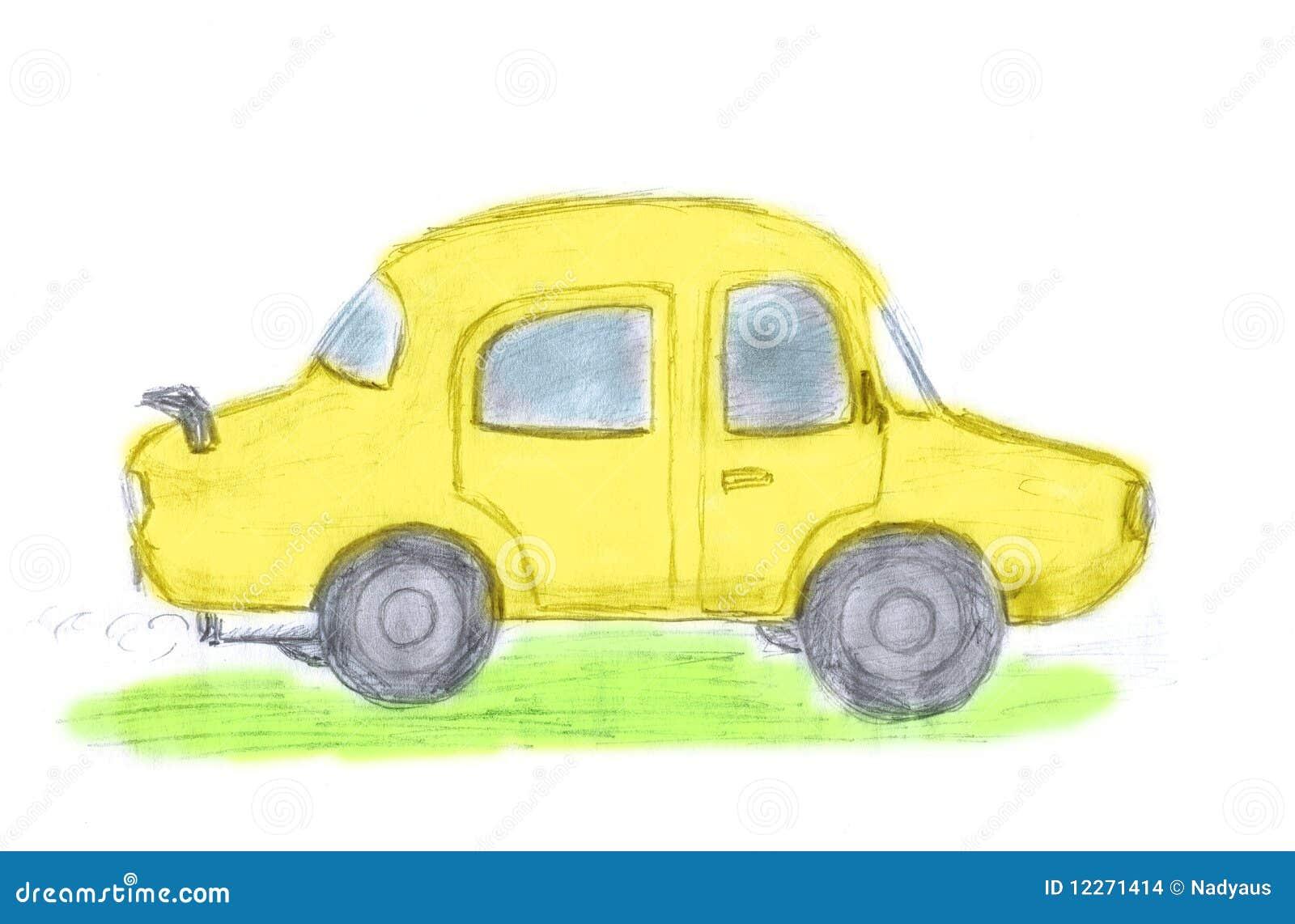 gelbes auto cars