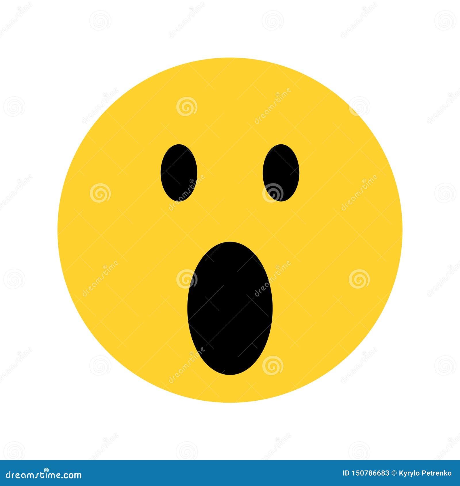 Gelbes emoji Gesicht des smiley auf weißem Hintergrund