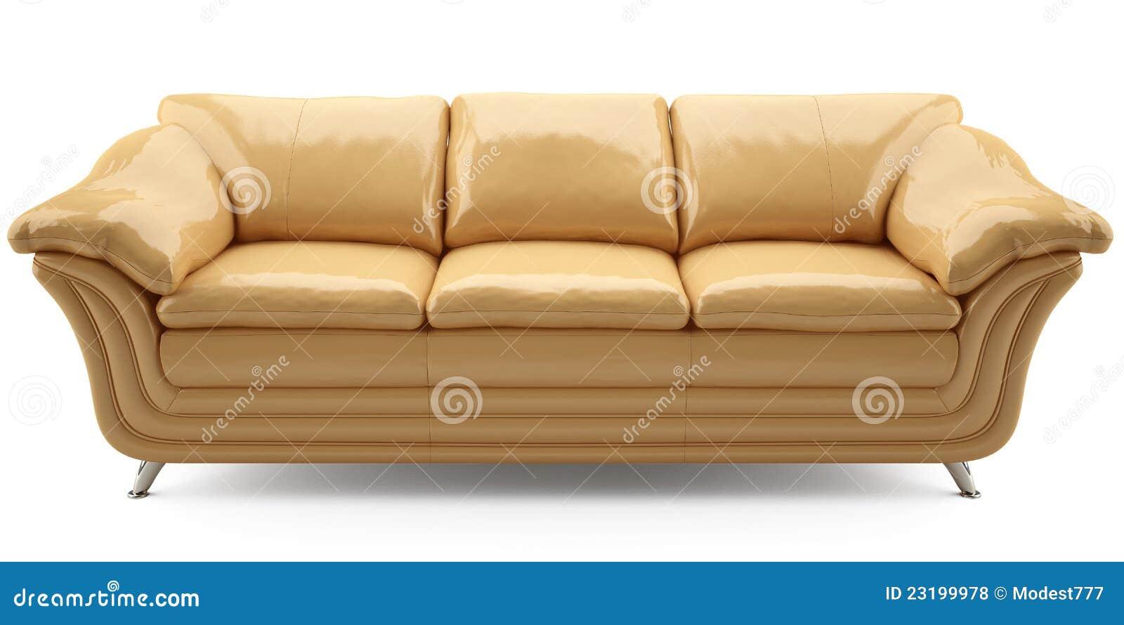 gelbes lither sofa stock abbildung bild von bild farbe. Black Bedroom Furniture Sets. Home Design Ideas