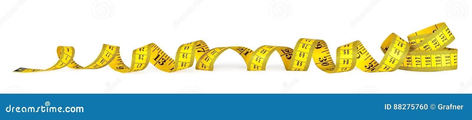 Gelbes metrisches messendes Band