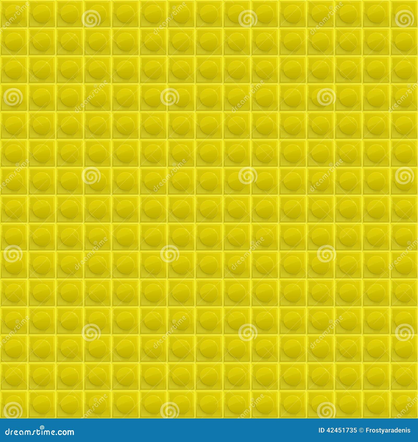 Gelbes Muster-vierflächiges Mosaik