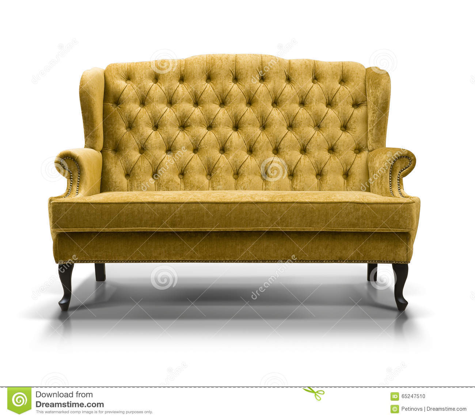 gelbes sofa stock abbildung bild 65247510. Black Bedroom Furniture Sets. Home Design Ideas