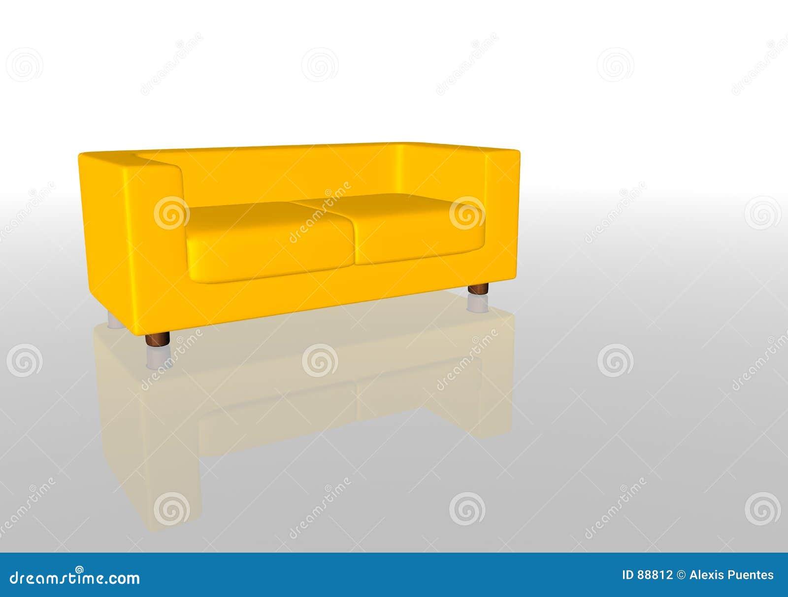 gelbes sofa stockfotografie bild 88812. Black Bedroom Furniture Sets. Home Design Ideas